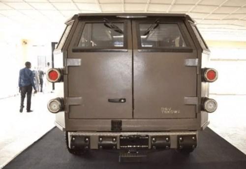 Armoured vehicle manufactured in Ekiti state