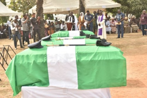 Photos From The Funeral Of 5 Nigeria Air Force Personnel Killed In Borno Helicopter Crash 3