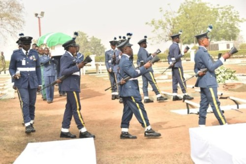 Photos From The Funeral Of 5 Nigeria Air Force Personnel Killed In Borno Helicopter Crash 2