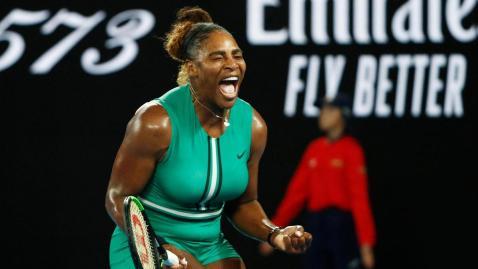 Bildergebnis für Serena Williams knocks out Simona Halep in epic Australian Open clash