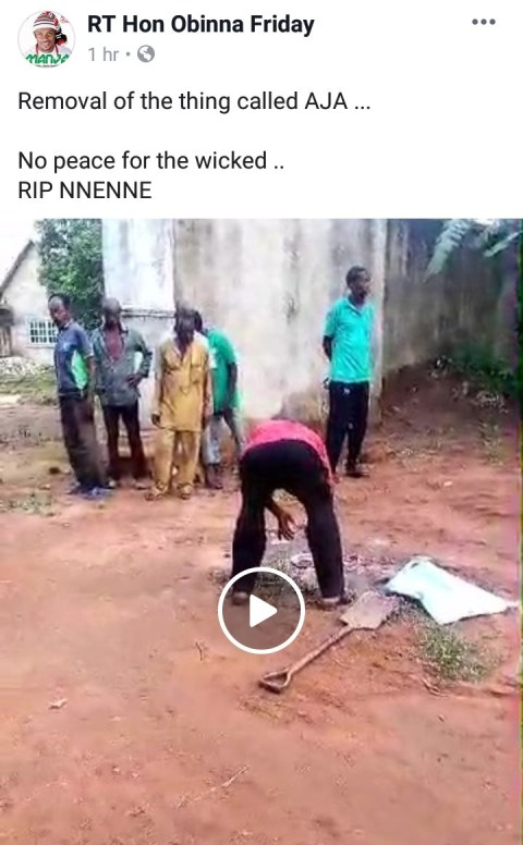 Woman Dies Minutes After Giving Birth Allegedly Because Of Fetish Item Placed In Her Father's Compound (Photo) 5