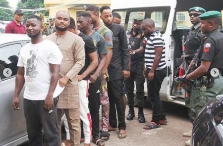 Again, EFCC Arrests Eight Suspected Internet Fraudsters In Lagos (Photos)