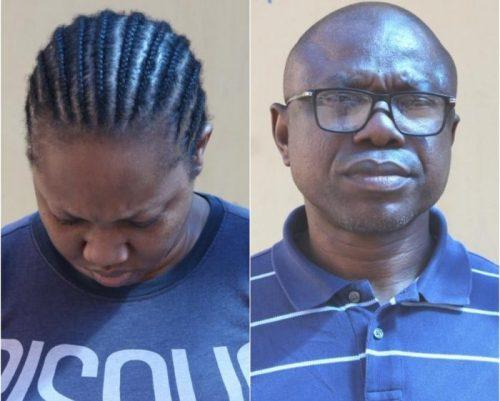 Rowly Isioro and his wife Ovuomarhoni Naomi Isioro
