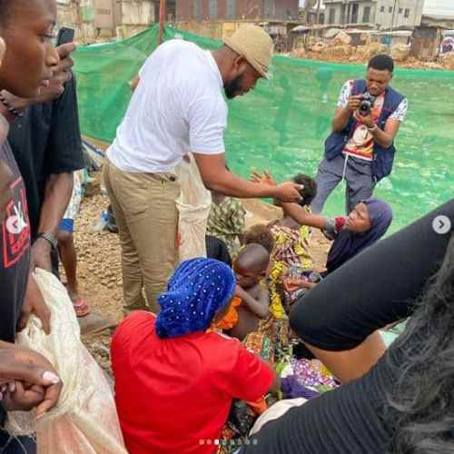 Frodd feeding the poor