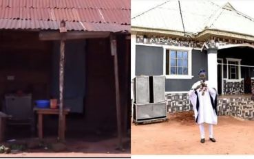 Gbovo builds house