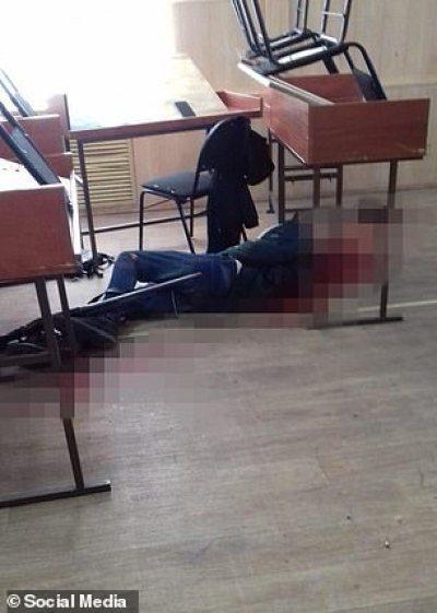 A victim shot dead inside the classroom, Daniil Zasorin