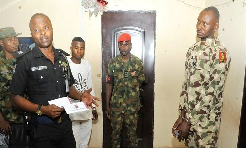 The fake soldier arrested in Enugu