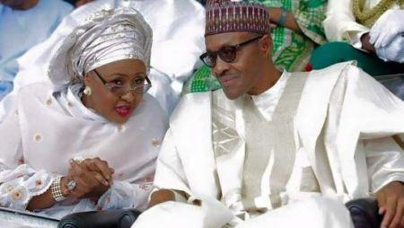 Aisha Buhari, President Muhammadu Buhari