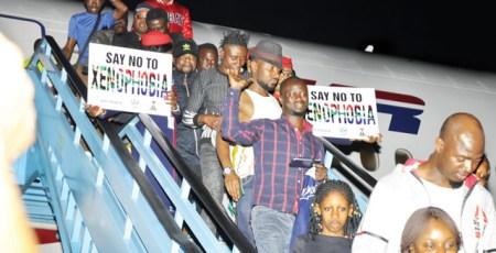Nigerians depart South Africa