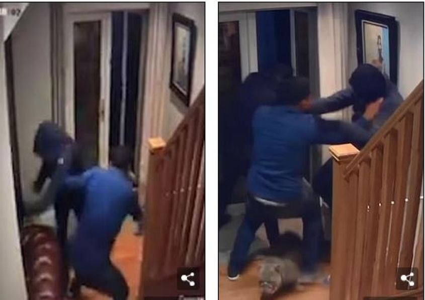 Wow! Courageous Man Fights Off Four Masked Robbers Who Broke Into His Home  At Night (Video) - gistsfanz