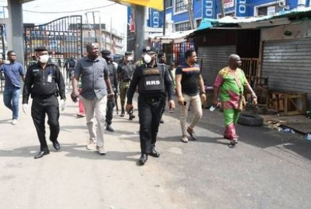 Lockdown: Drama As Police Officers Bar Traders From Computer Village (Photos)