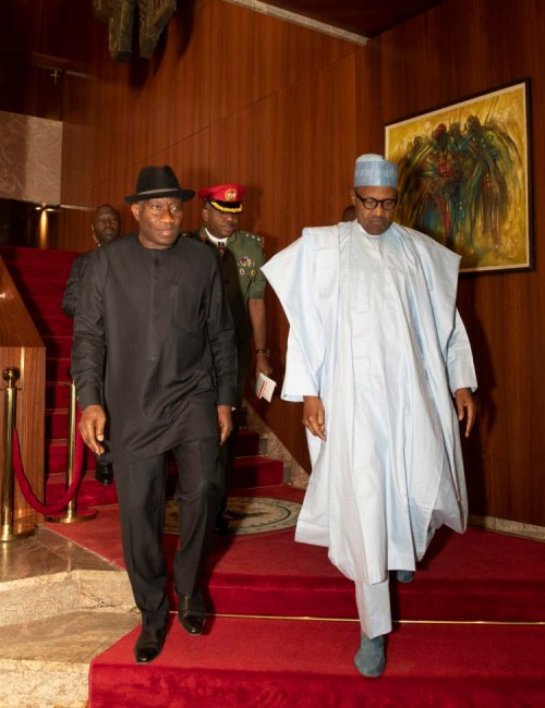 Jonathan meets with President Buhari