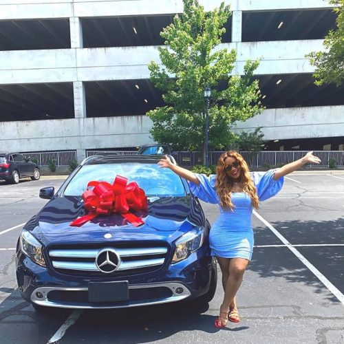 adenike1 - See The Unique Automobile Davido's Cousin, Adenike, Obtained As Commencement Present From Her Dad (Pictures)