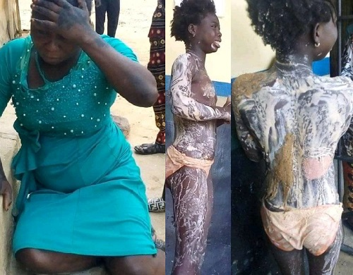 The woman arrested for pouring water on her niece