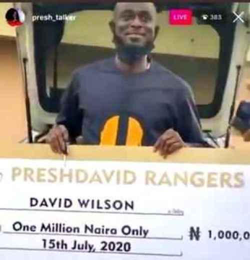 Fans Gift Ultimate Love Guest, David Wilson Brand New Car & N1m For His 34th Birthday (Photos)