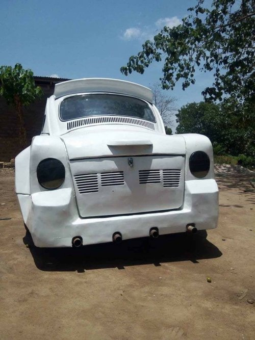 modibo2 - Gifted Nigerian Man Converts Volkswagen Beetle Into Rolls Royce Reproduction (Picture)