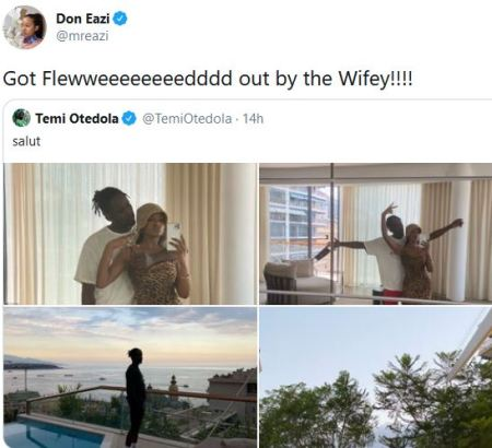 Wow! Mr. Eazi Calls Temi Otedola His 'Wifey', Reveals She Flew Him Out To Monaco For His Birthday (Photos/Video)