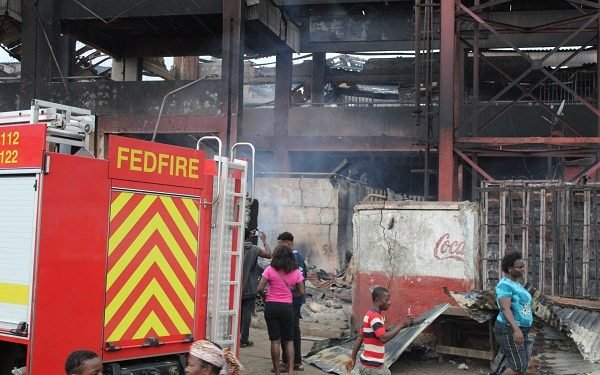 Oba market in Benin destroyed by fire