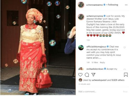 Uche1 - Nollywood Actress Mourns After Dropping Mother