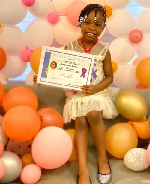 imade1 - See The Reward Davido Purchased For His Daughter, Imade After She Graduated From Kindergarten To Nursery Class (Images)