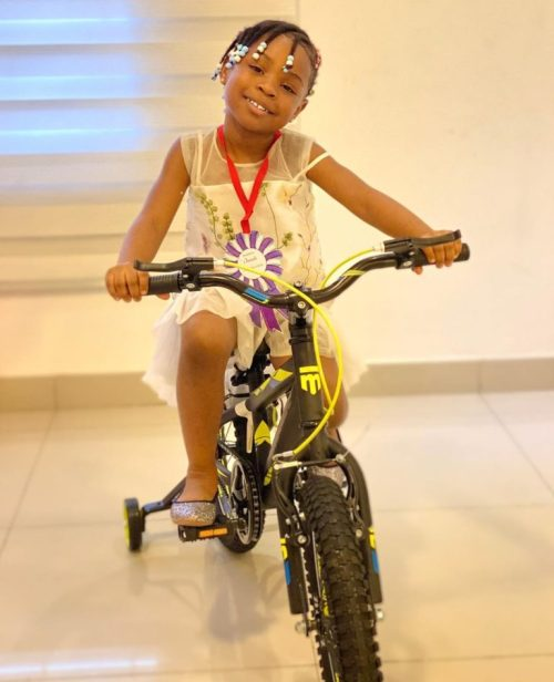 imade3 - See The Reward Davido Purchased For His Daughter, Imade After She Graduated From Kindergarten To Nursery Class (Images)