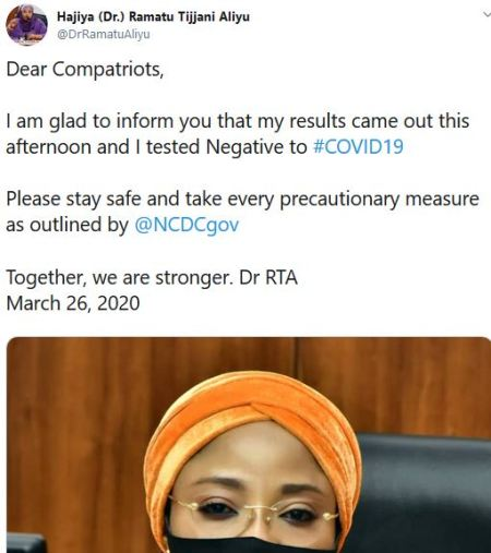 Revealed! This Is The Result Of The Coronavirus Test Conducted On The FCT Minister | Ejes Gist Nigeria
