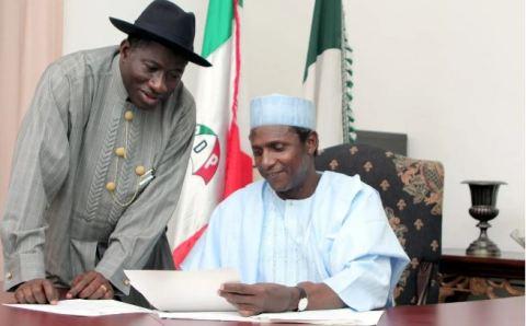 Goodluck Jonathan and Late Umaru Yar'Adua