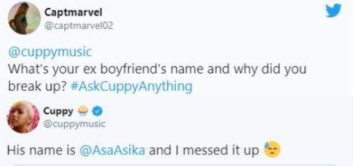 DJ Cuppy Reveals She Messed Up Her Relationship With Ex-Boyfriend Asa Asika