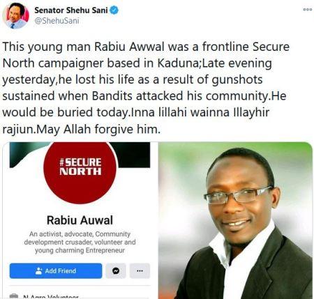 Horror! Armed Bandits Go Wild, Kill Kaduna-Based Activist