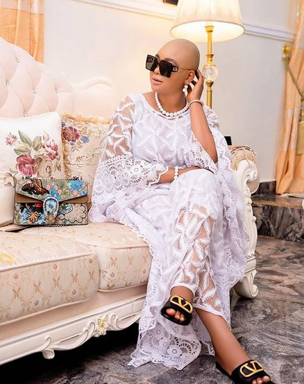 Nollywood Actress, Rachel Okonkwo Goes Bald After Burying Mum