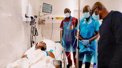 Sanwo-Olu visits a victim of the Lekki shooting