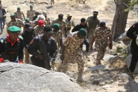 Nigerian soldiers buried