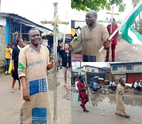 Jehovah Sharp Sharp dresses in sack cloth to warn President Buhari