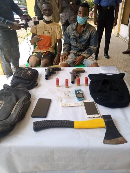 Photo Of Two Suspected Cultists Who Were Arrested With Weapons In Ibadan cultists 20busted