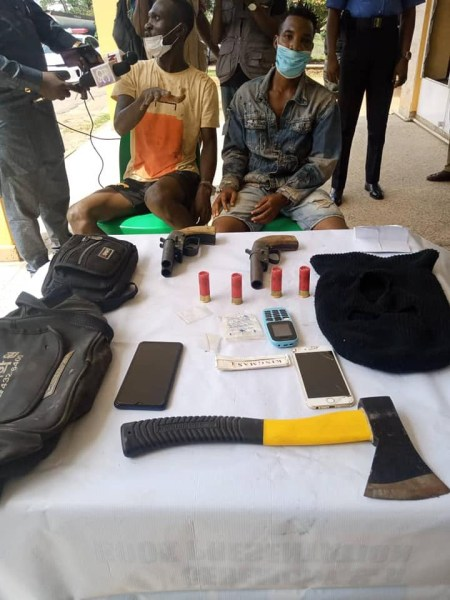 Photo Of Two Suspected Cultists Who Were Arrested With Weapons In Ibadan cultists 20busted1