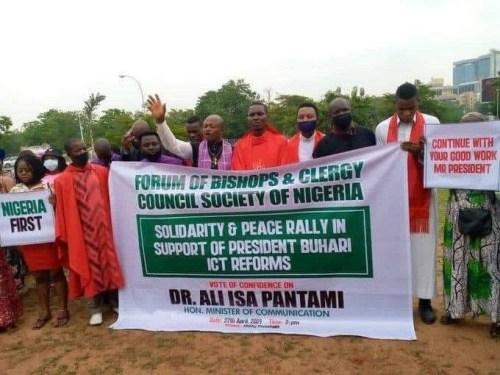 Bishops hold solidarity rally for Pantami
