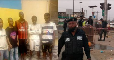 Drama As Five Traffic Robbers Get Nabbed In Lagos Community