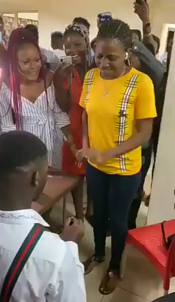 Girl runs man after being collecting engagement ring from her boyfriend
