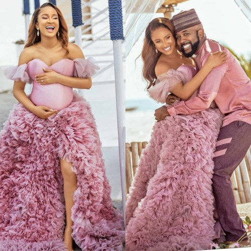 Banky W and wife, Adesua Etomi