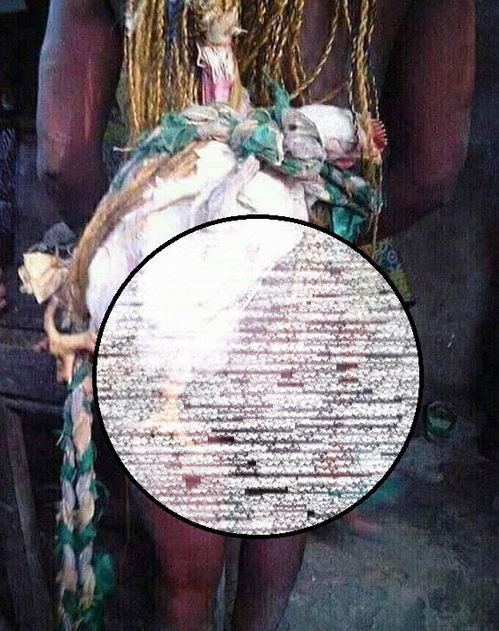 Lady Stripped Naked And Paraded For Allegedly Stealing A Fowl In Akwa Ibom (Photos)