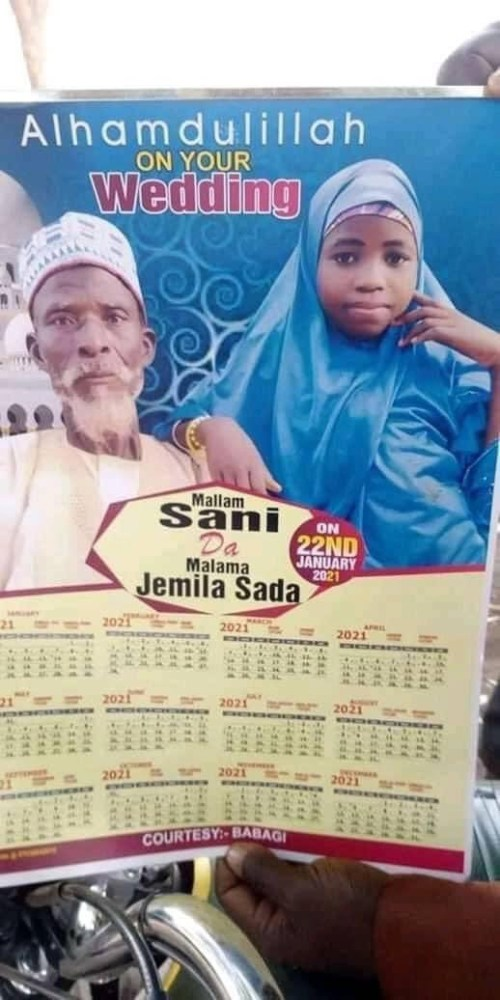Devastating :  Nigerians React As Elderly Grandfather Weds Teenage Girl In Northern Nigeria (Photo)