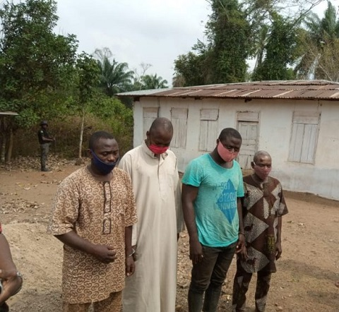 The four herbalists arrested by the police