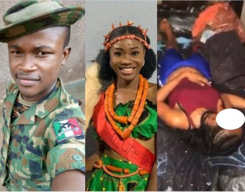 The soldier killed the girlfriend after accusing her of cheating