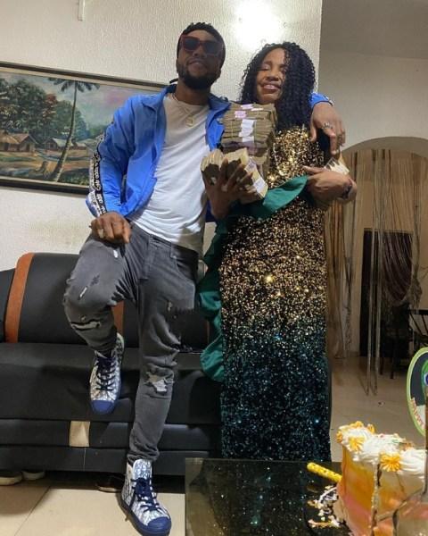 Charles Okocha and mother