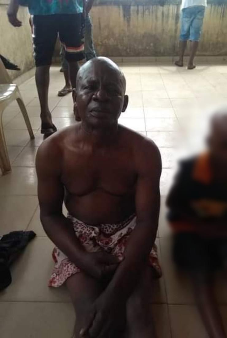 Elderly man caught raping a little girl
