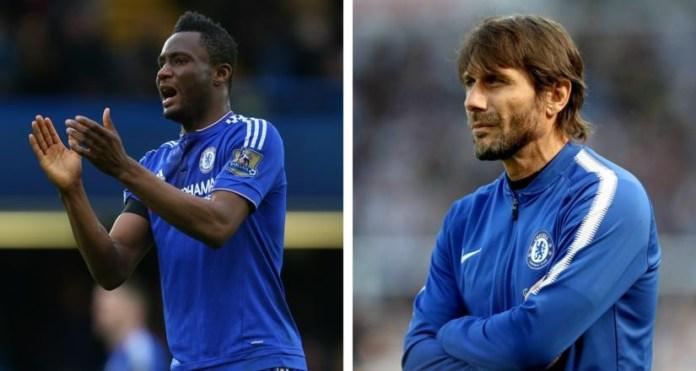 Mikel Obi and Antonio Conte