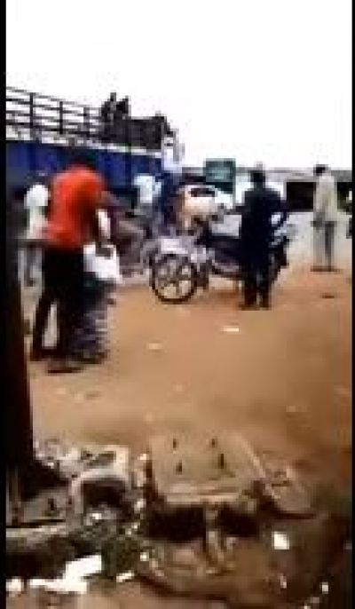 Truck looted in Imo state