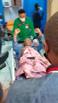 Sowore on hospital bed