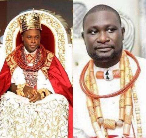 Olu of Warri and Chief Ayirimi Emami, the Ologbotsere of Warri Kingdom