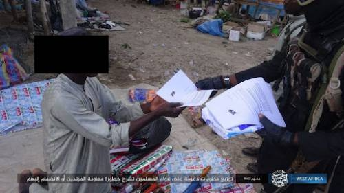 ISWAP distributes fliers in Borno